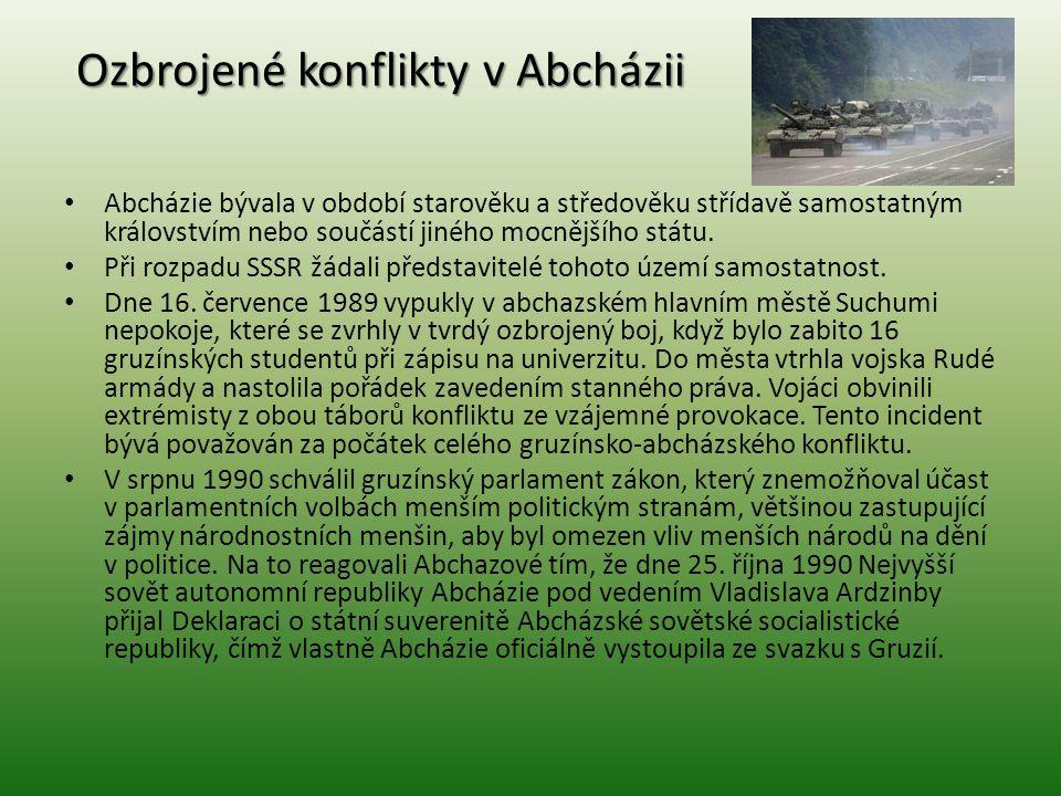 Ozbrojené konflikty v Abcházii
