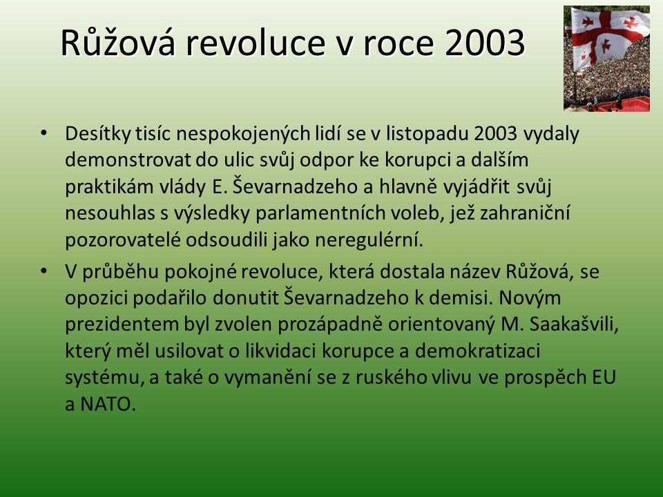 Růžová revoluce v roce 2003