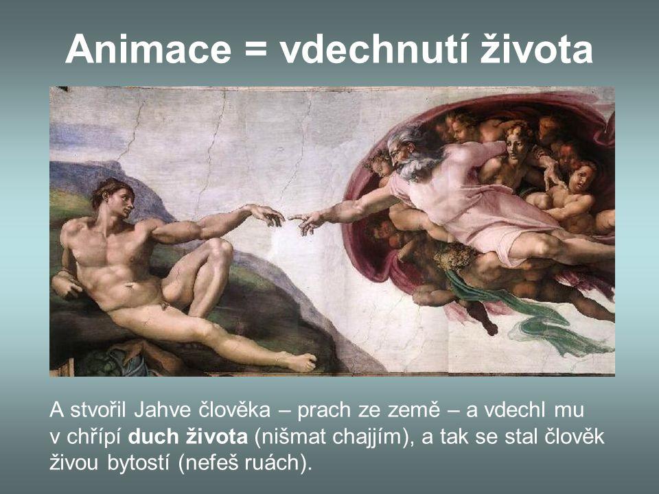 Animace = vdechnutí života