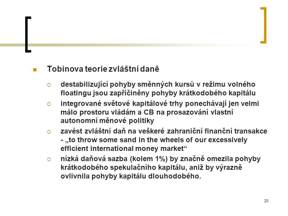 Tobinova teorie zvláštní daně