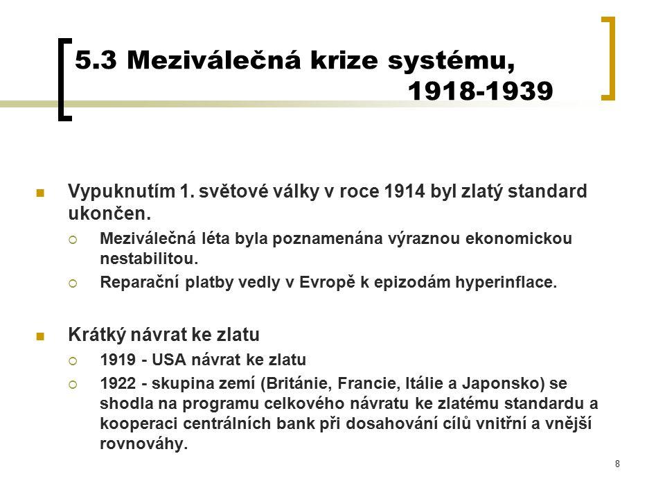 5.3 Meziválečná krize systému, 1918-1939
