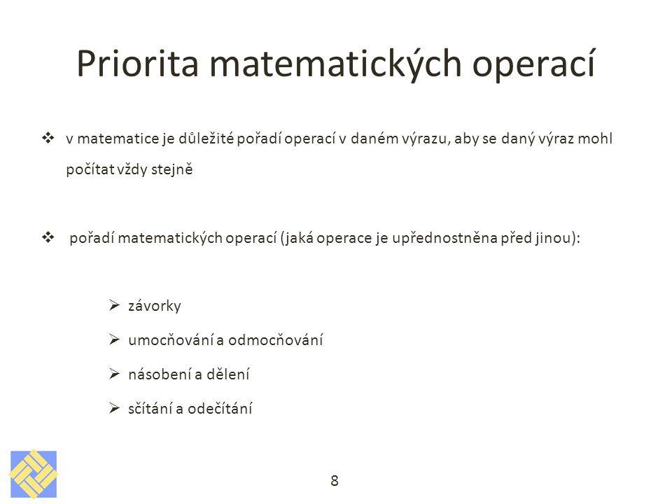 Priorita matematických operací