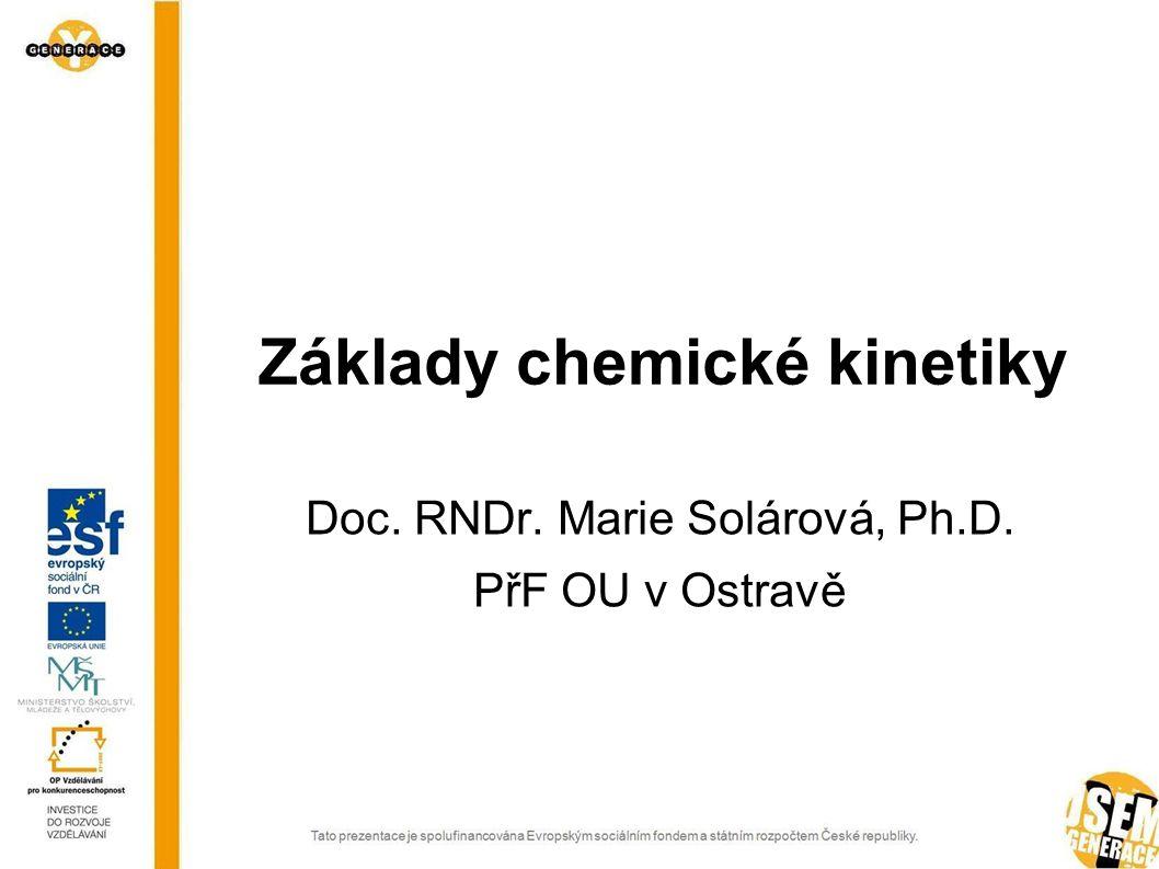 Základy chemické kinetiky