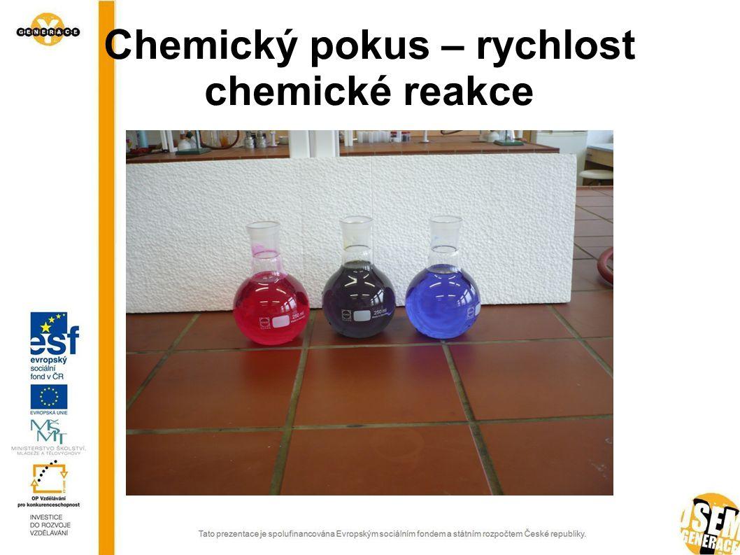 Chemický pokus – rychlost chemické reakce