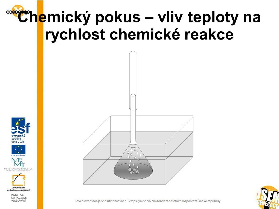 Chemický pokus – vliv teploty na rychlost chemické reakce