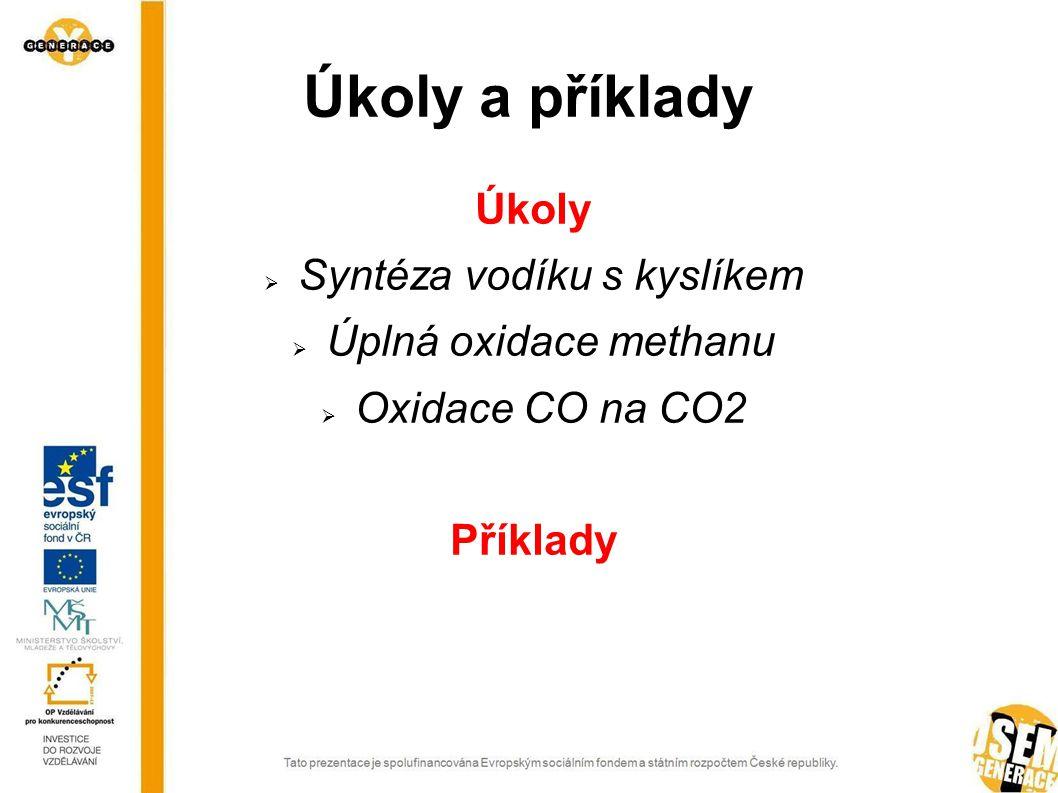 Syntéza vodíku s kyslíkem