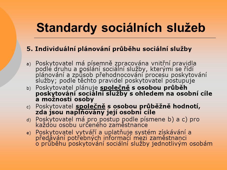 Standardy sociálních služeb