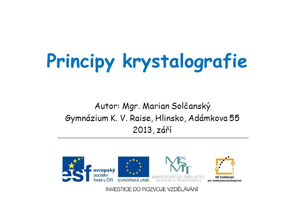 Principy krystalografie