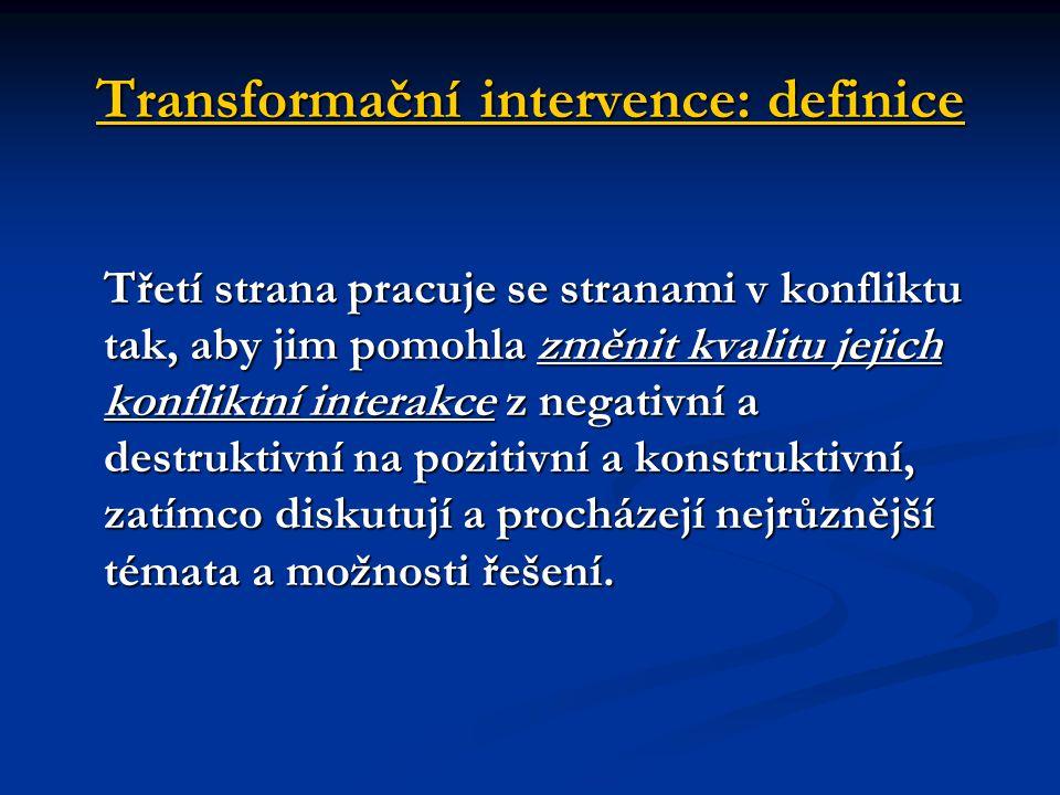 Transformační intervence: definice