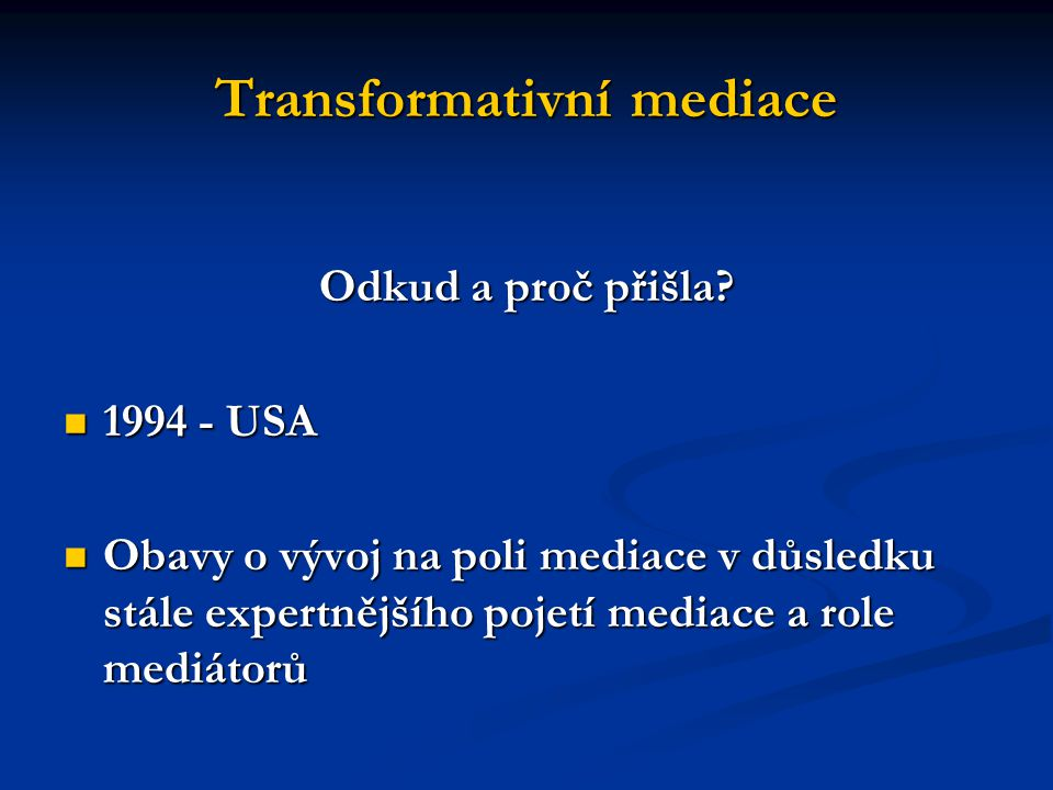 Transformativní mediace