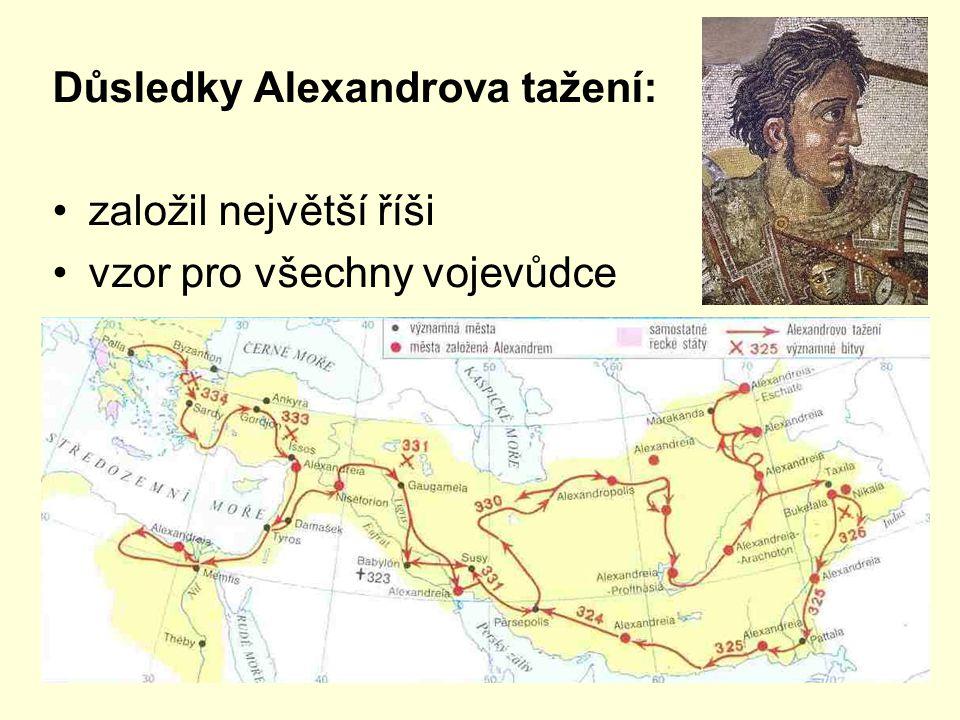 Důsledky Alexandrova tažení: