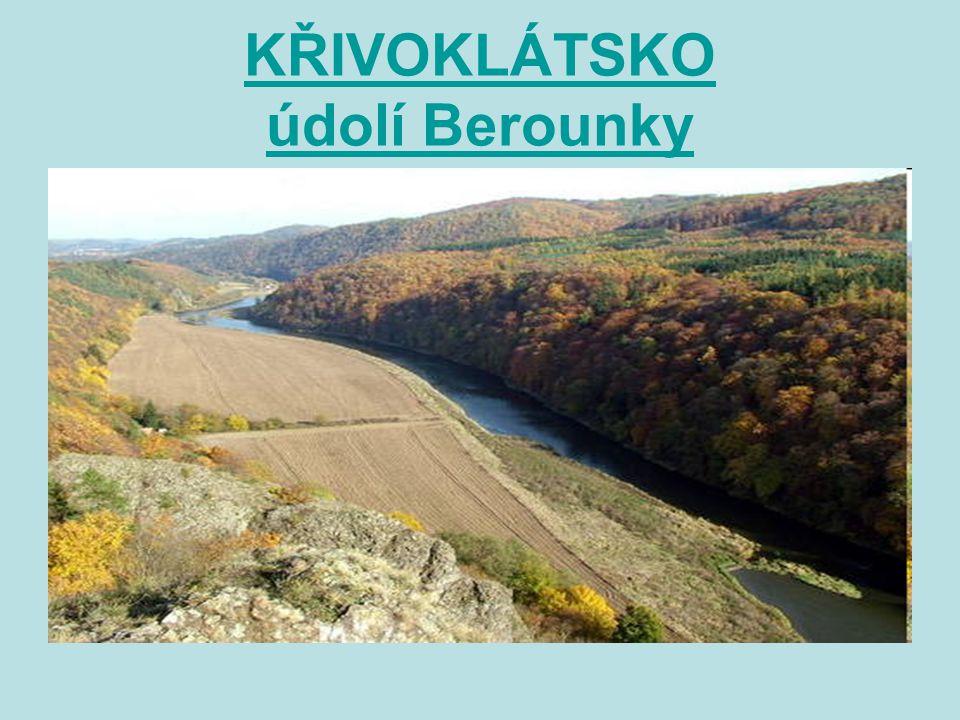 KŘIVOKLÁTSKO údolí Berounky