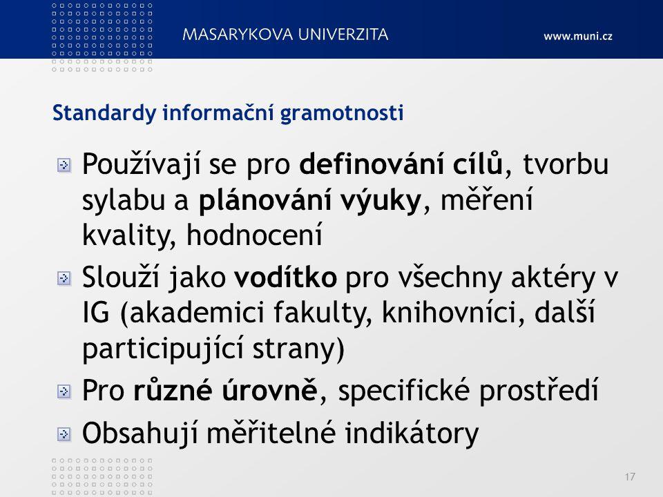 Standardy informační gramotnosti