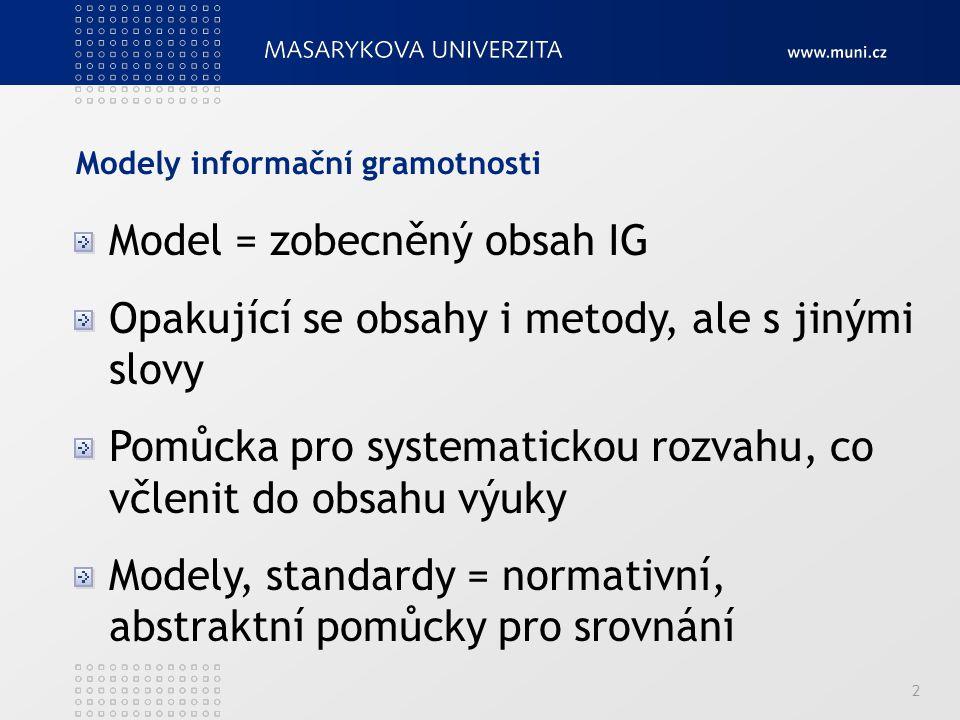 Modely informační gramotnosti