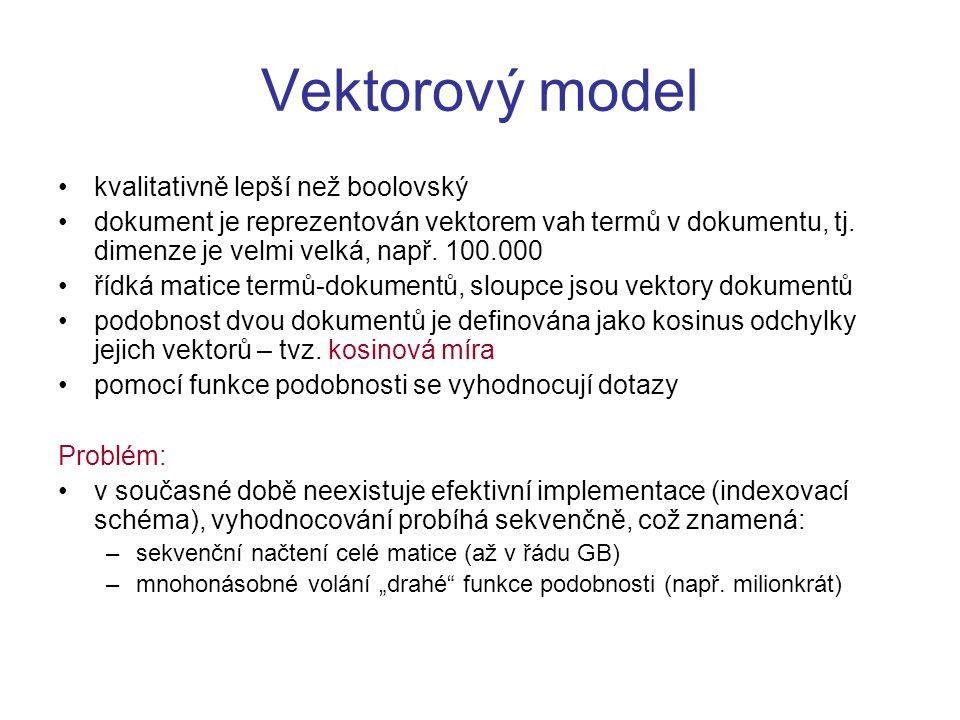 Vektorový model kvalitativně lepší než boolovský