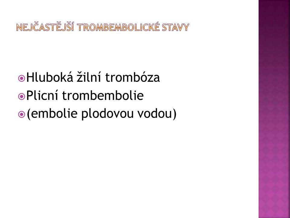 Nejčastější trombembolické stavy