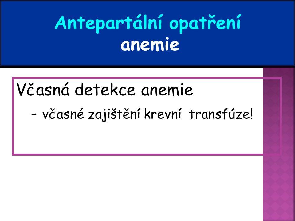 Antepartální opatření anemie