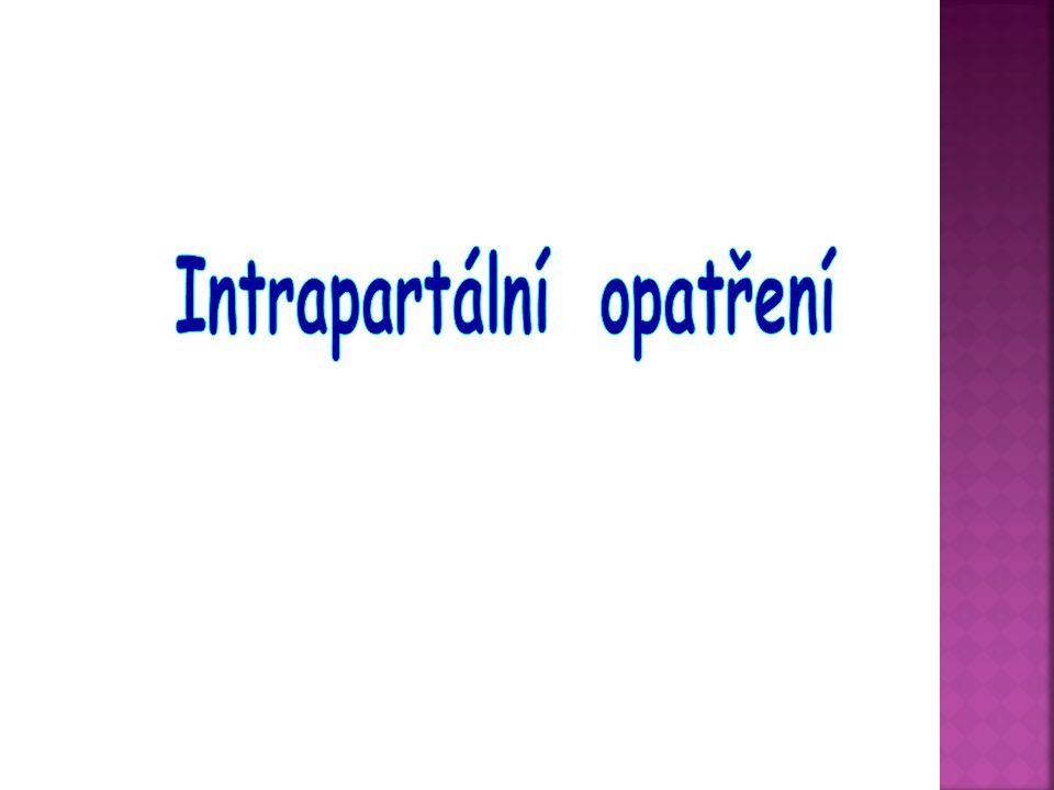 Intrapartální opatření