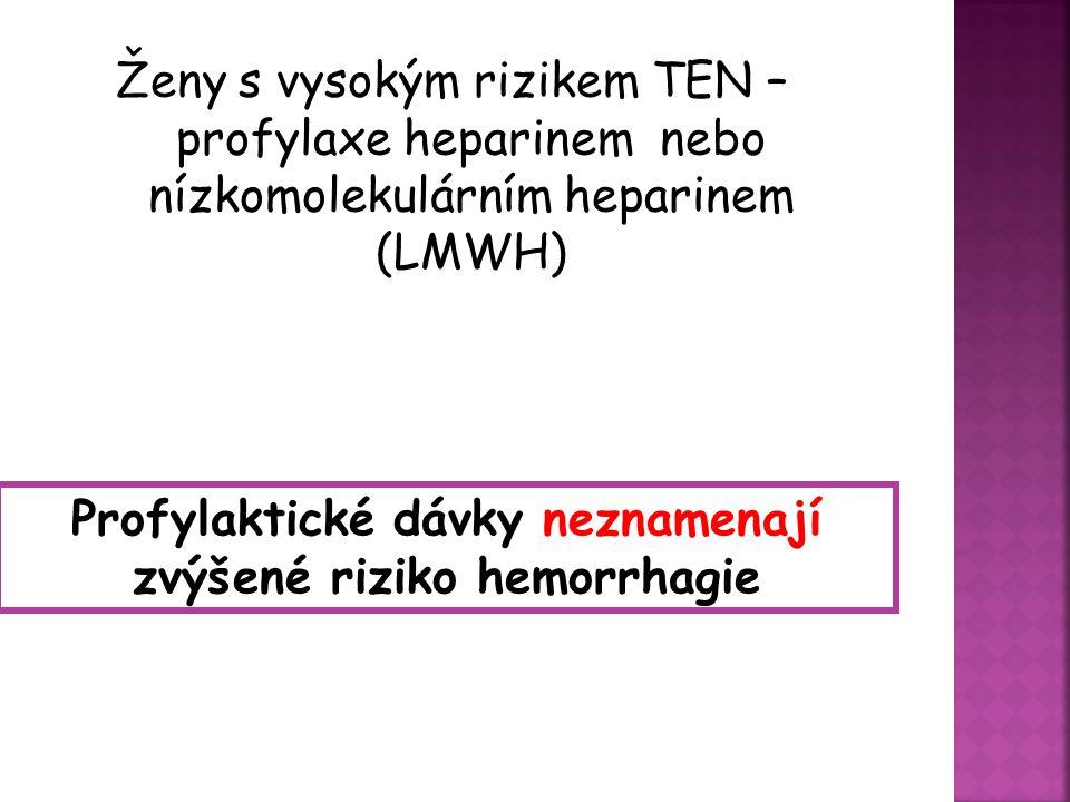 Profylaktické dávky neznamenají zvýšené riziko hemorrhagie