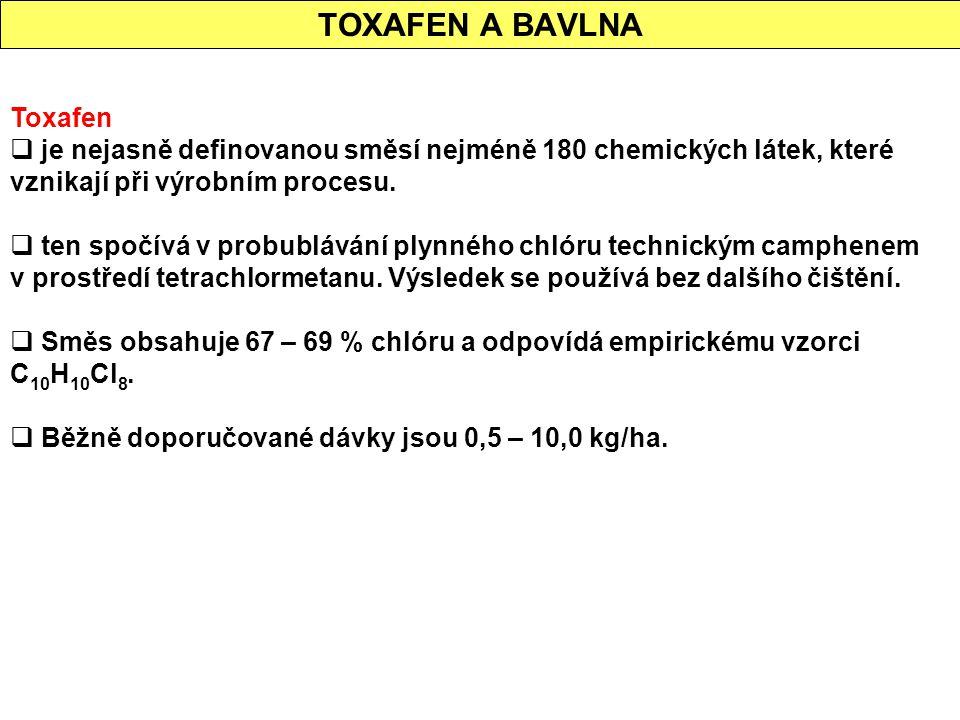 TOXAFEN A BAVLNA Toxafen