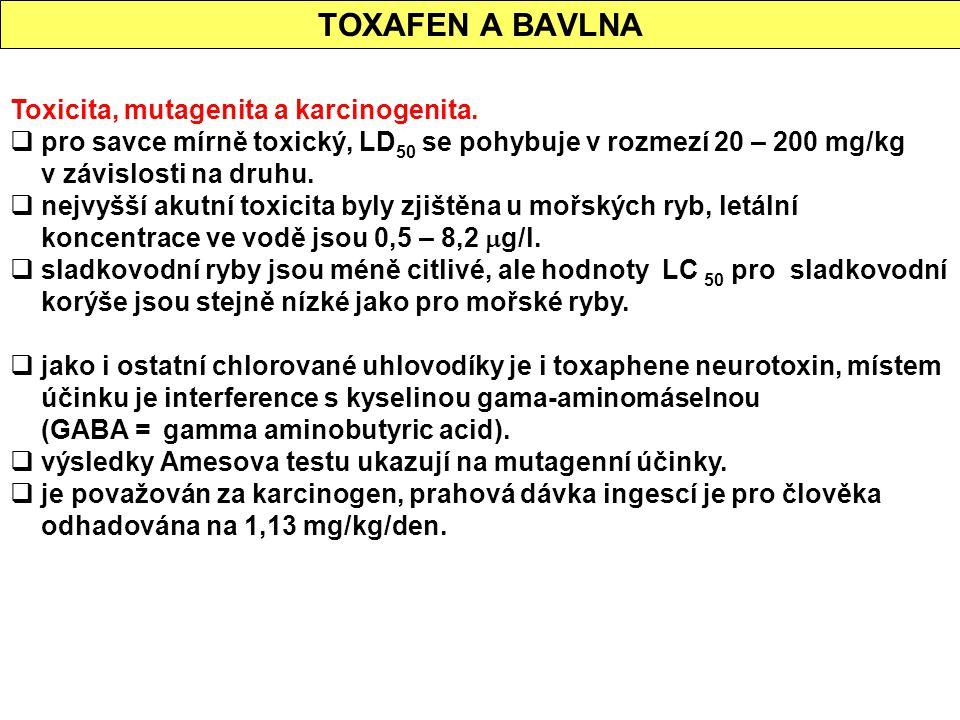 TOXAFEN A BAVLNA Toxicita, mutagenita a karcinogenita.