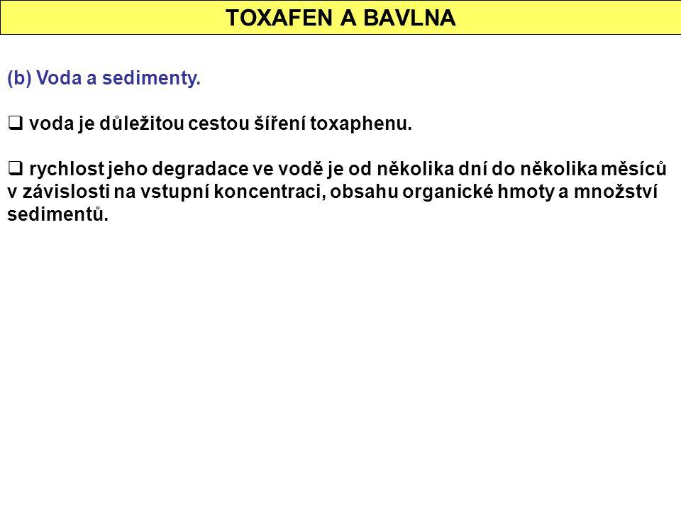 TOXAFEN A BAVLNA (b) Voda a sedimenty.