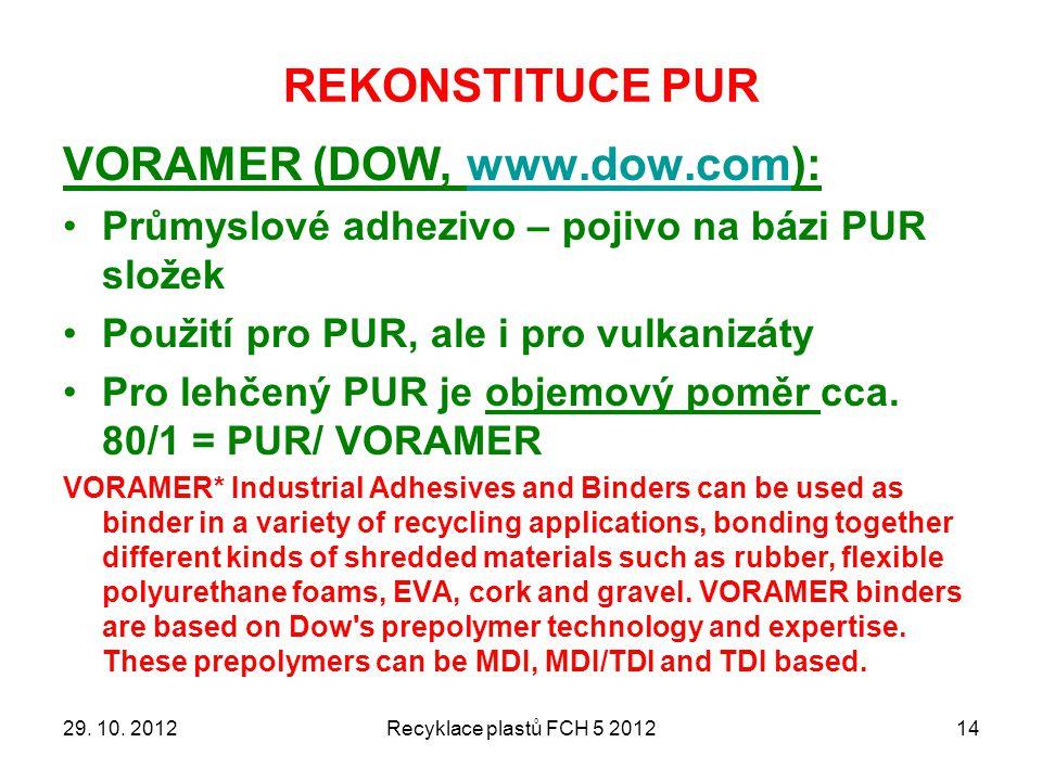 VORAMER (DOW, www.dow.com):