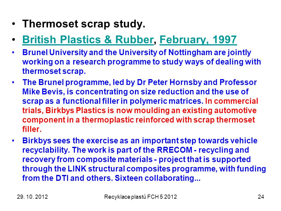 British Plastics & Rubber, February, 1997