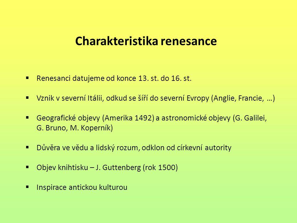 Charakteristika renesance