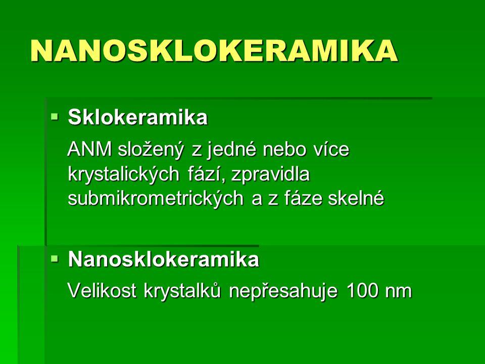 NANOSKLOKERAMIKA Sklokeramika