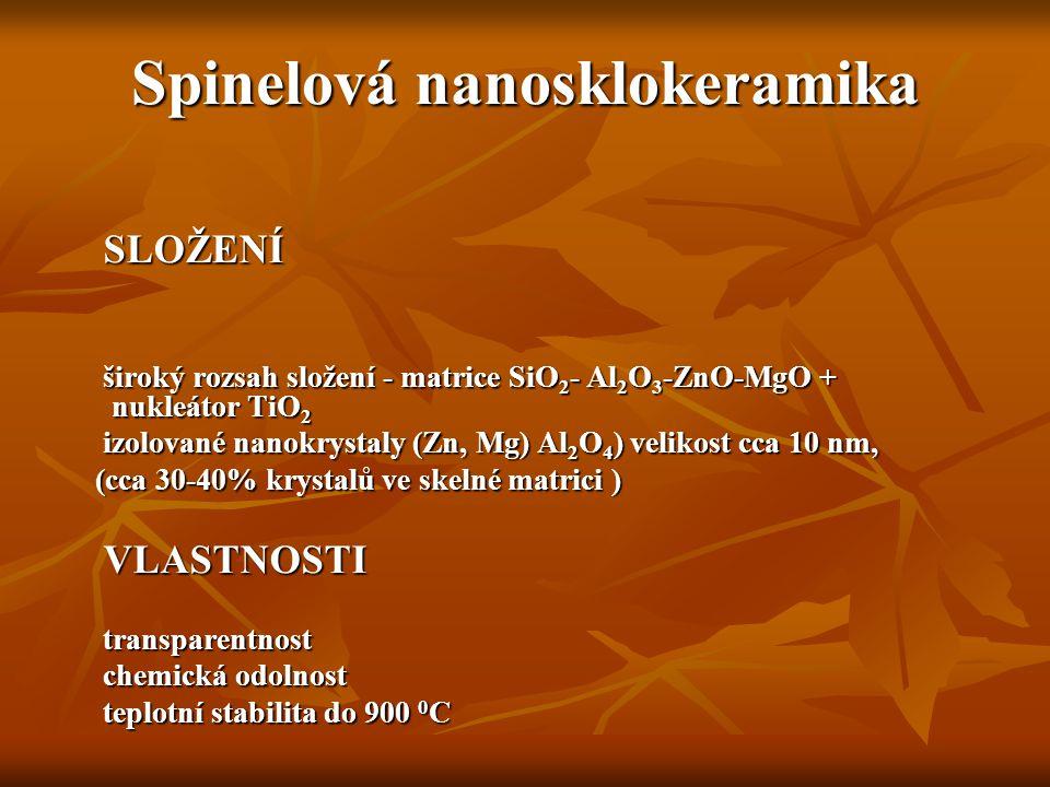 Spinelová nanosklokeramika