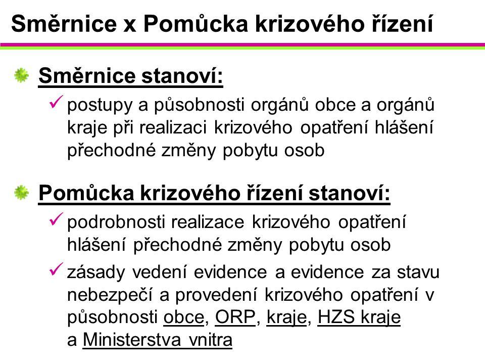 Směrnice x Pomůcka krizového řízení