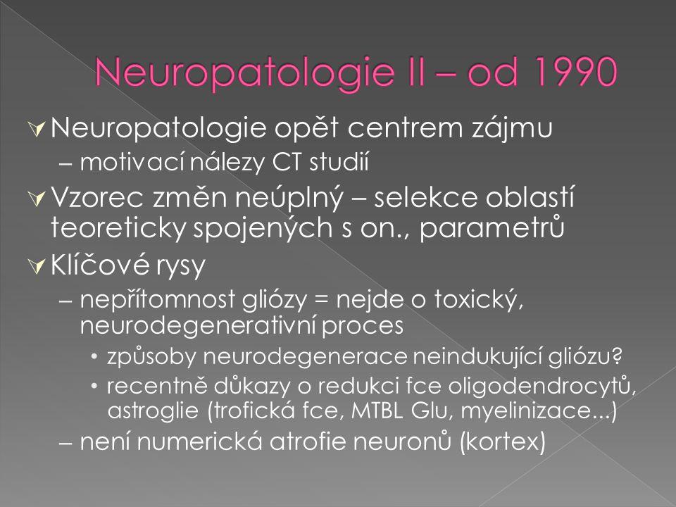 Neuropatologie II – od 1990 Neuropatologie opět centrem zájmu