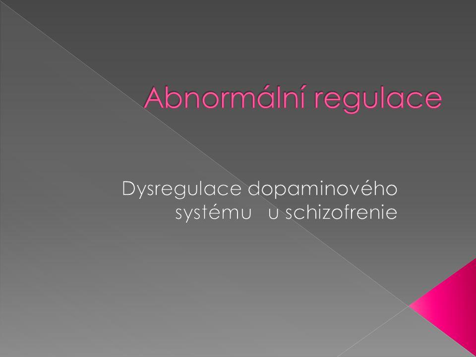 Dysregulace dopaminového systému u schizofrenie