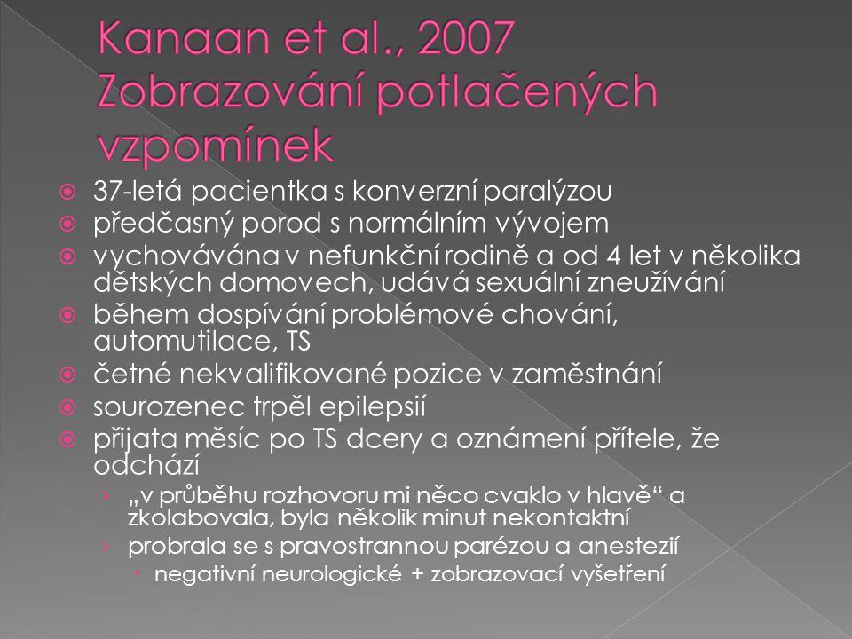 Kanaan et al., 2007 Zobrazování potlačených vzpomínek