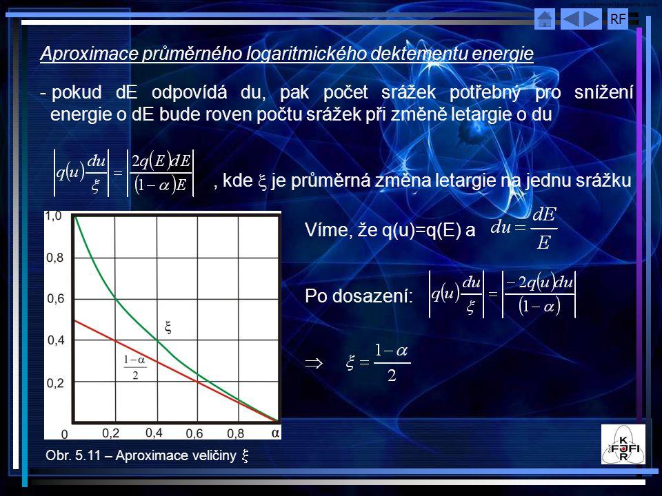 Aproximace průměrného logaritmického dektementu energie