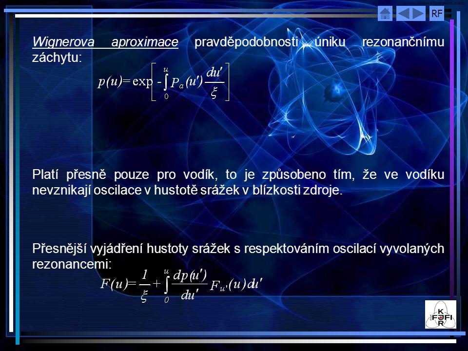 Wignerova aproximace pravděpodobnosti úniku rezonančnímu záchytu: