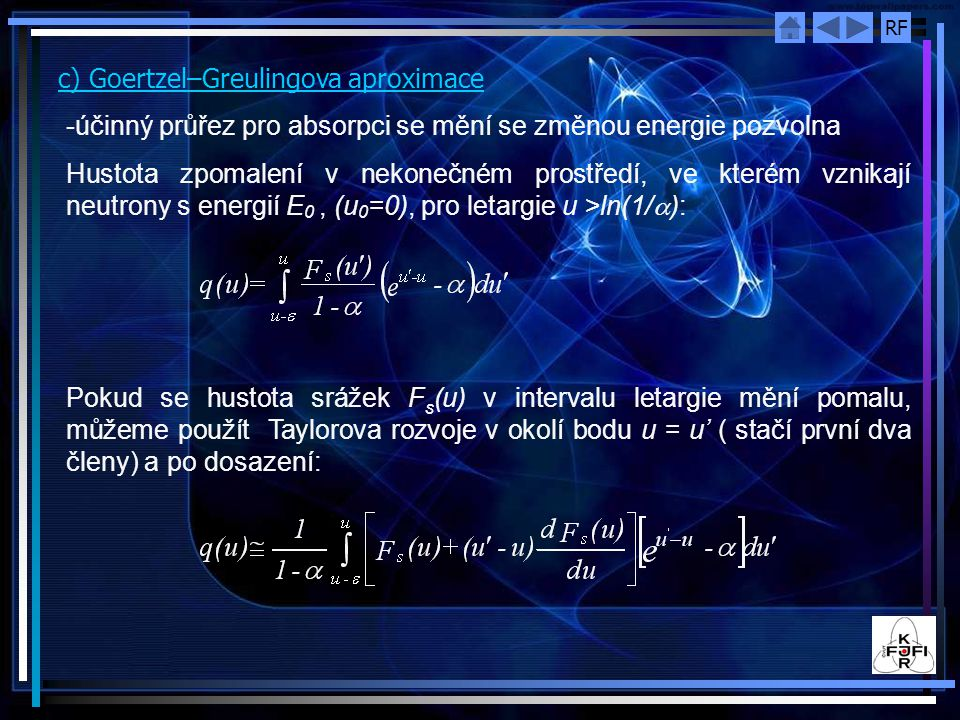 c) Goertzel–Greulingova aproximace