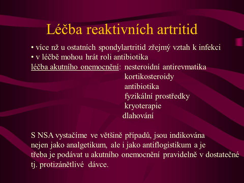 Léčba reaktivních artritid