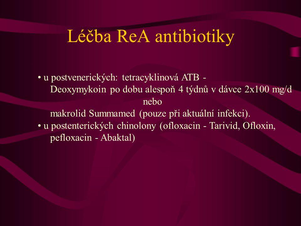 Léčba ReA antibiotiky u postvenerických: tetracyklinová ATB -