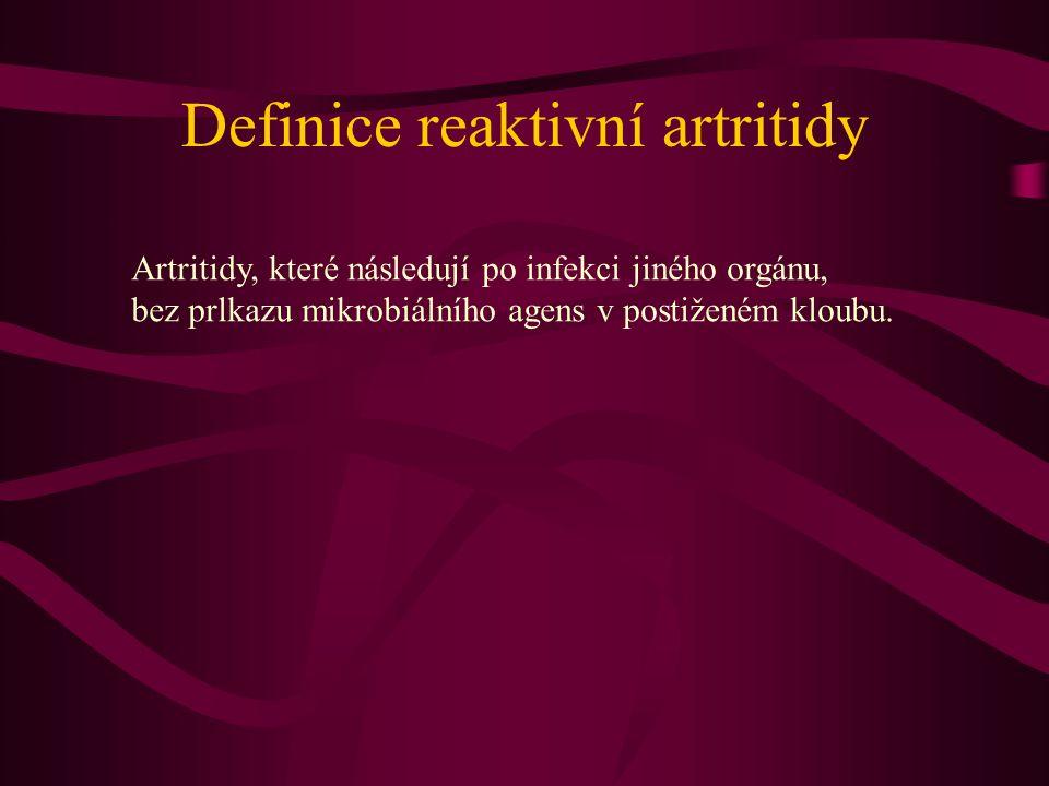 Definice reaktivní artritidy