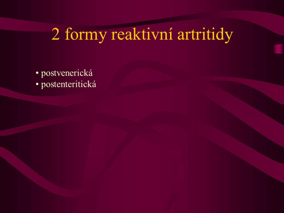 2 formy reaktivní artritidy