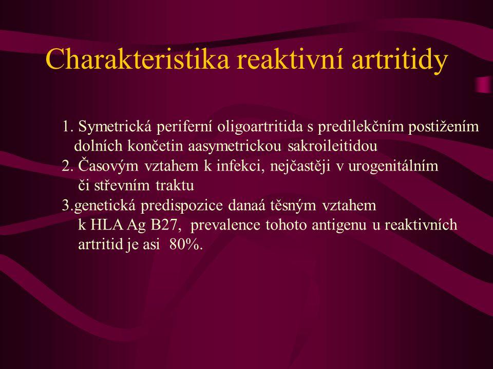Charakteristika reaktivní artritidy