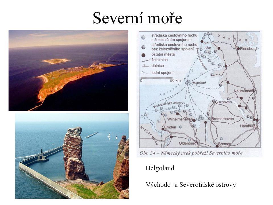 Severní moře Helgoland Východo- a Severofríské ostrovy