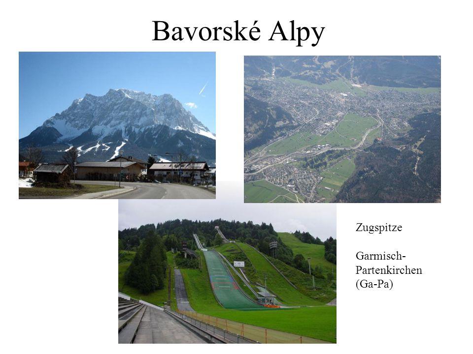 Bavorské Alpy Zugspitze Garmisch-Partenkirchen (Ga-Pa)
