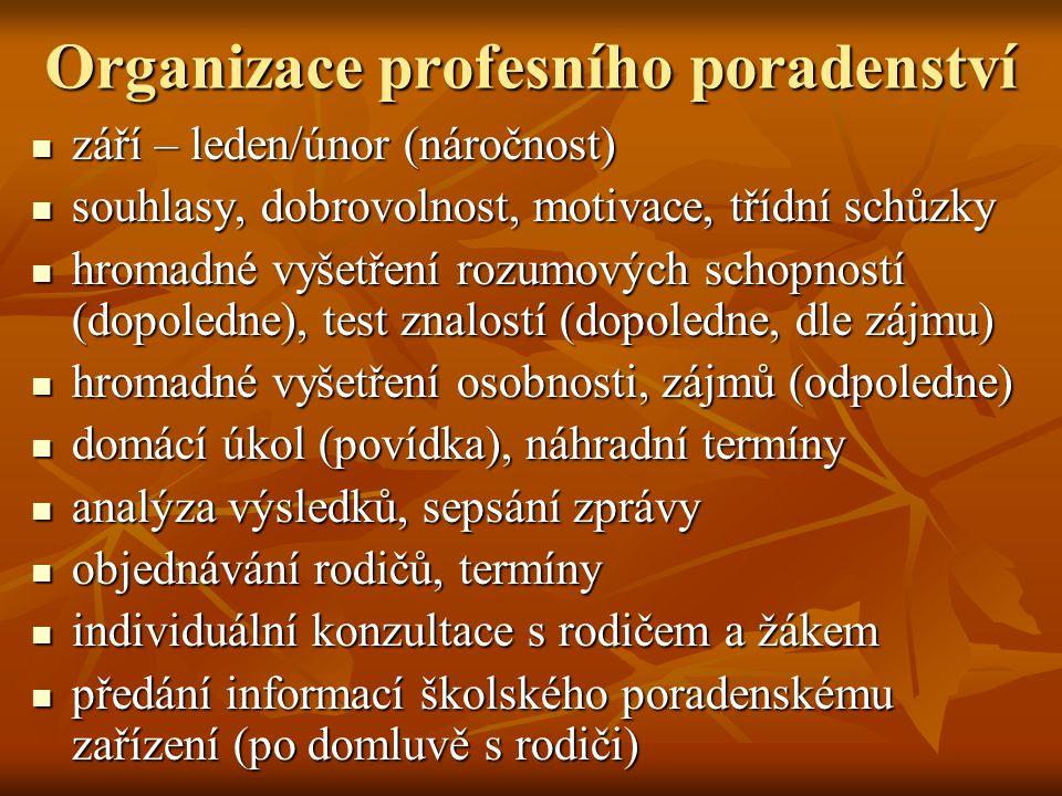 Organizace profesního poradenství