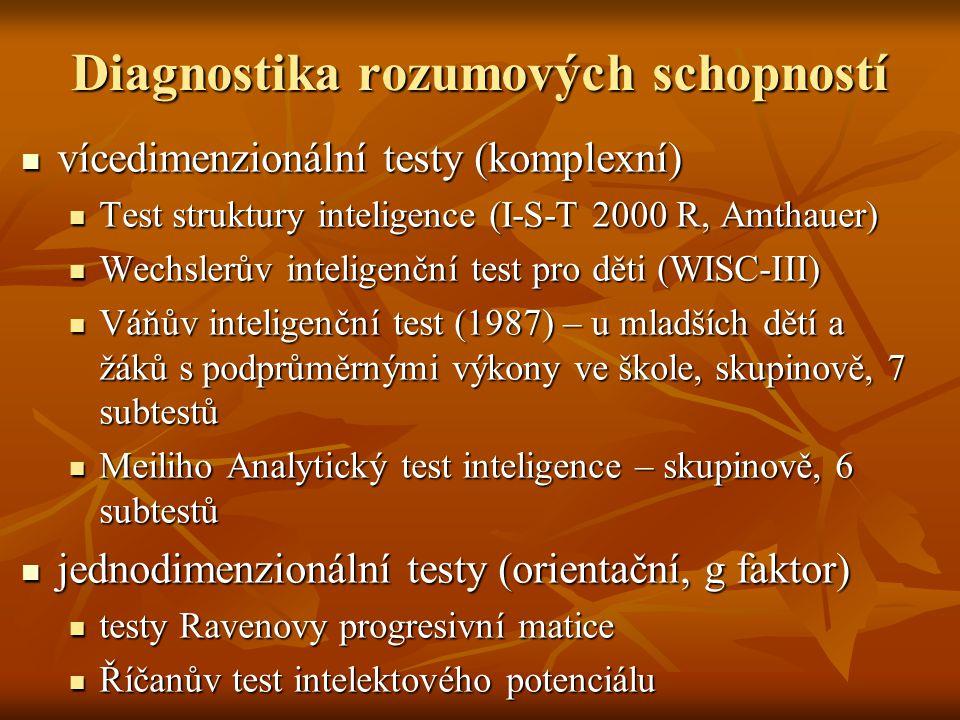 Diagnostika rozumových schopností