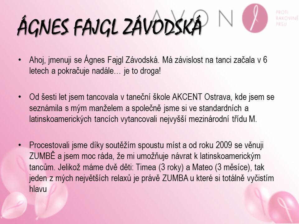 ÁGNES FAJGL ZÁVODSKÁ Ahoj, jmenuji se Ágnes Fajgl Závodská. Má závislost na tanci začala v 6 letech a pokračuje nadále… je to droga!