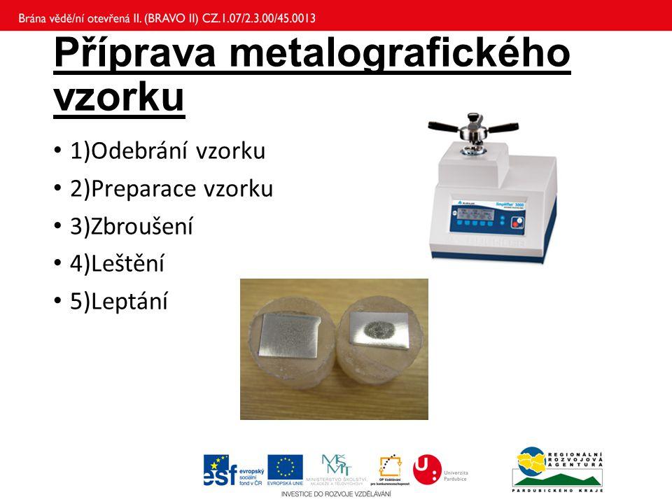 Příprava metalografického vzorku