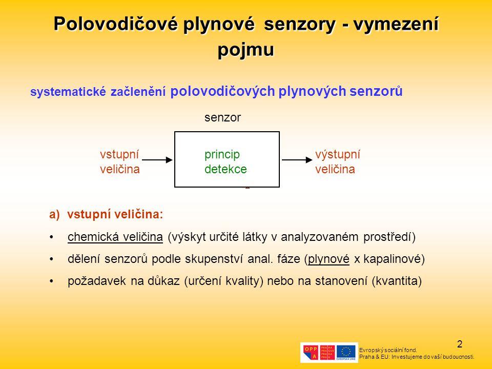 Polovodičové plynové senzory - vymezení pojmu